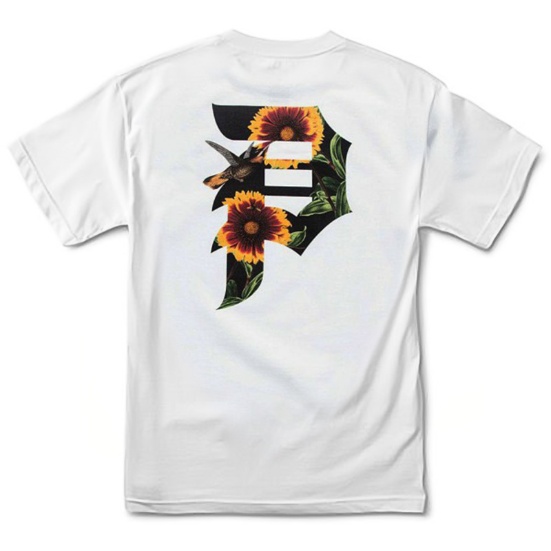Primitive Dirty P Sunflower T-Shirt White
