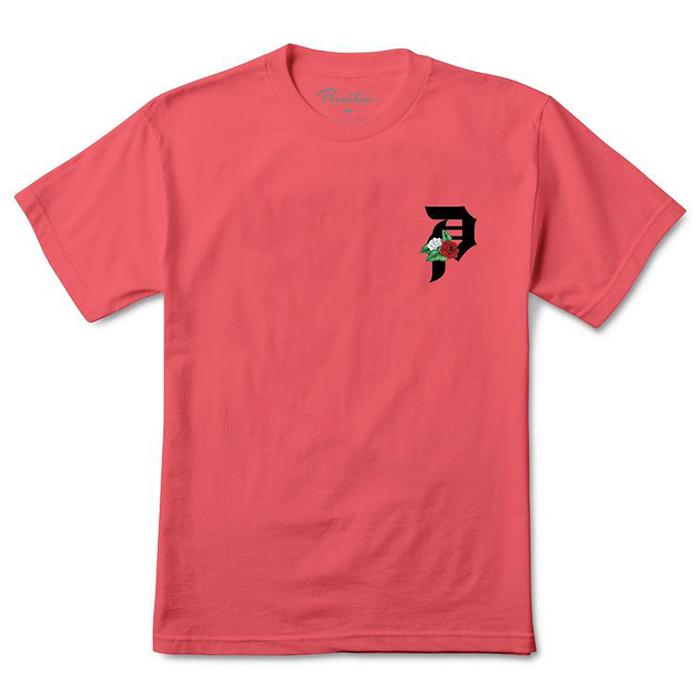 Primitive Dos Flores T-Shirt Coral