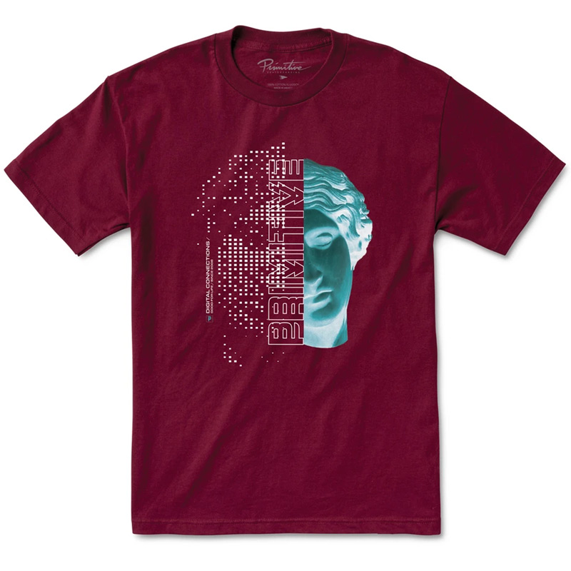 Primitive Genesis T-Shirt Burgundy