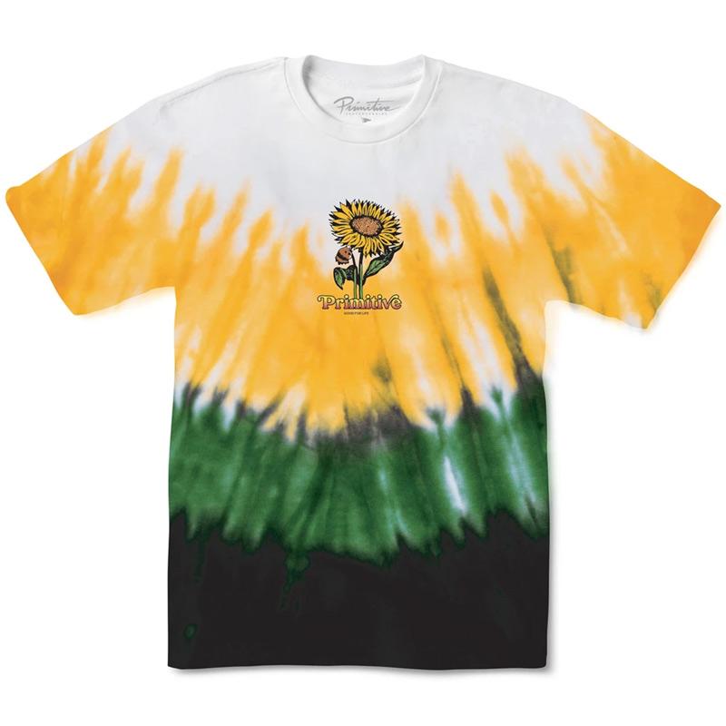 Primitive Sunny Washed T-Shirt White/Yellow