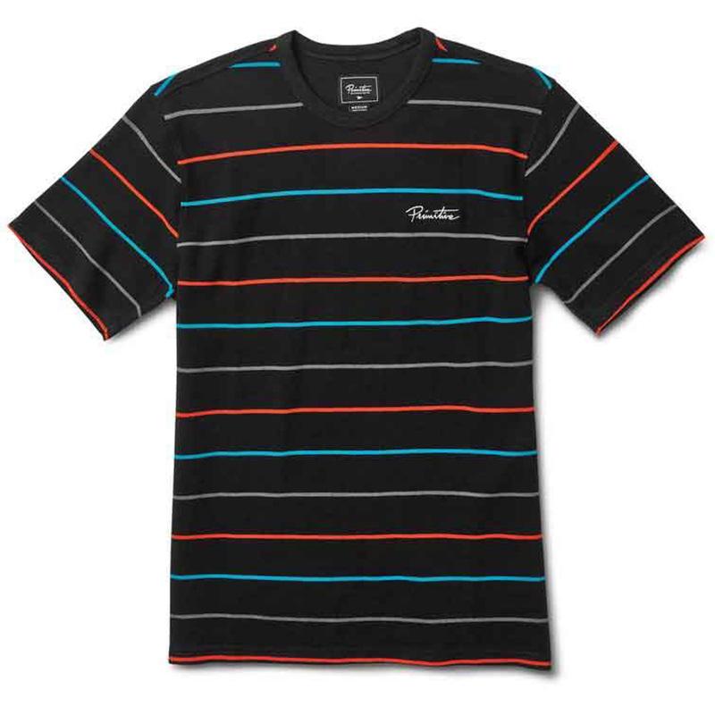 Primitive Washed Pique Crew T-Shirt Black