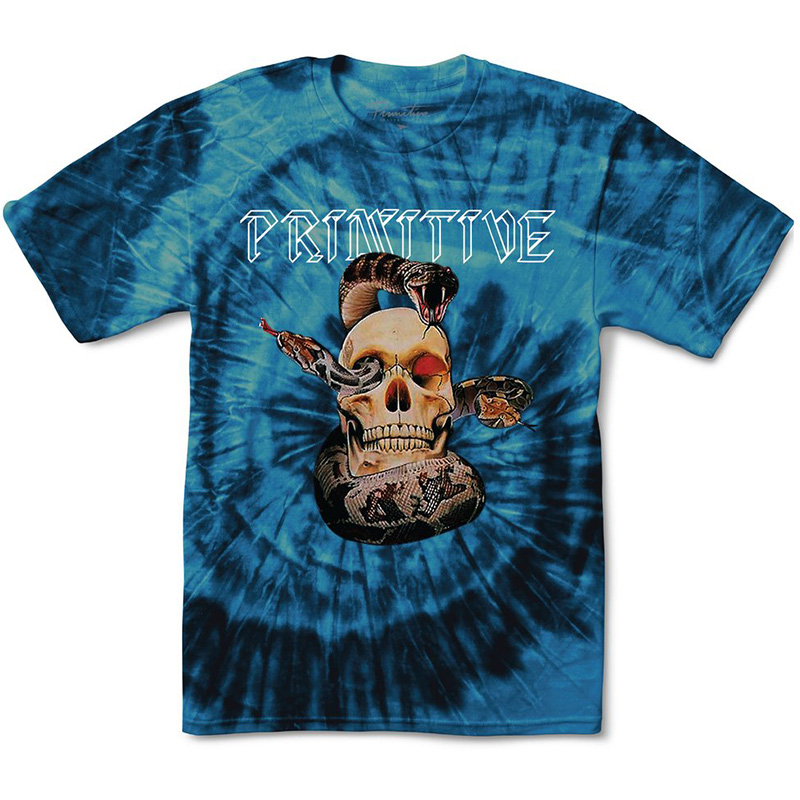 Primitive World Tour Tie Dye T-Shirt Blue