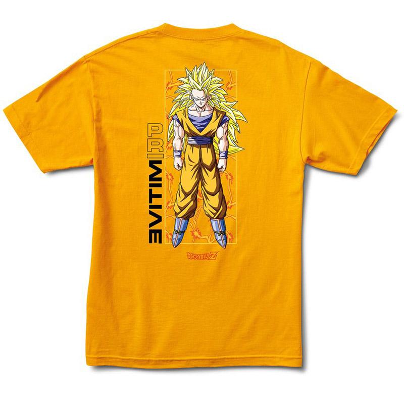 Primitive x DBZ Goku Glow T-Shirt Gold