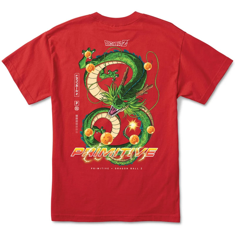 Primitive x DBZ Shenron Dirty P T-Shirt Red