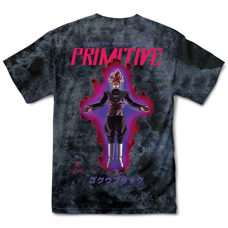 Primitive X Goku Black Rose Washed T-Shirt Black