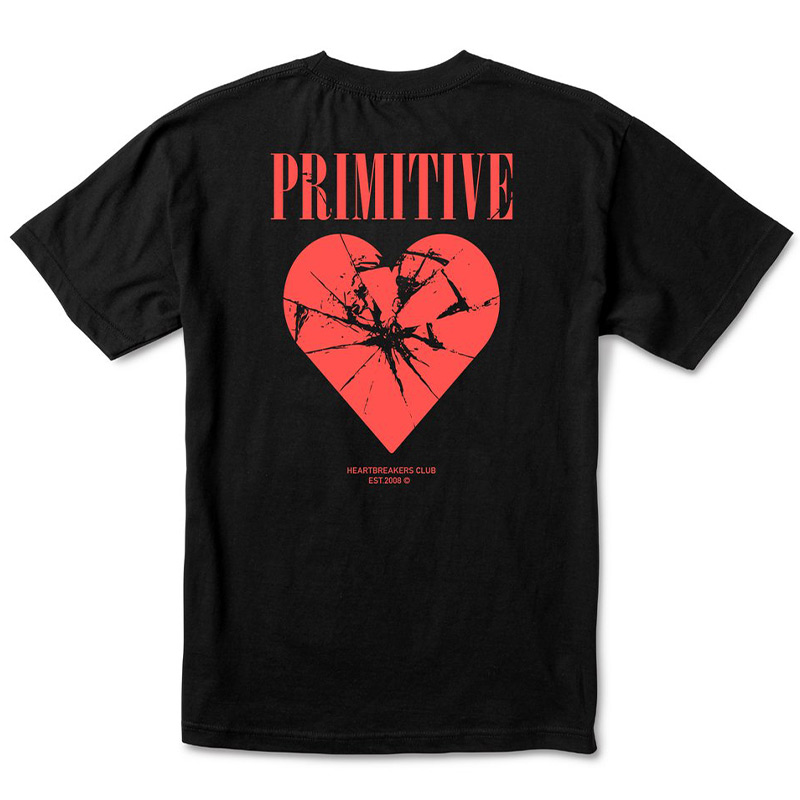 Primitive X Heartbreakers 2020 Shattered T-Shirt Black