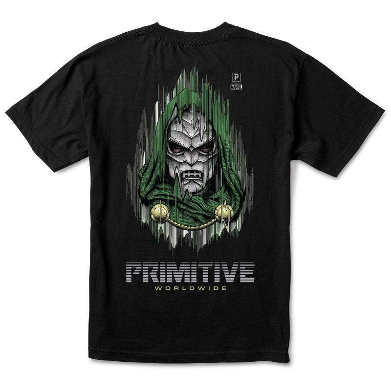 Primitive x Marvel x Paul Jackson Doom T-Shirt Black