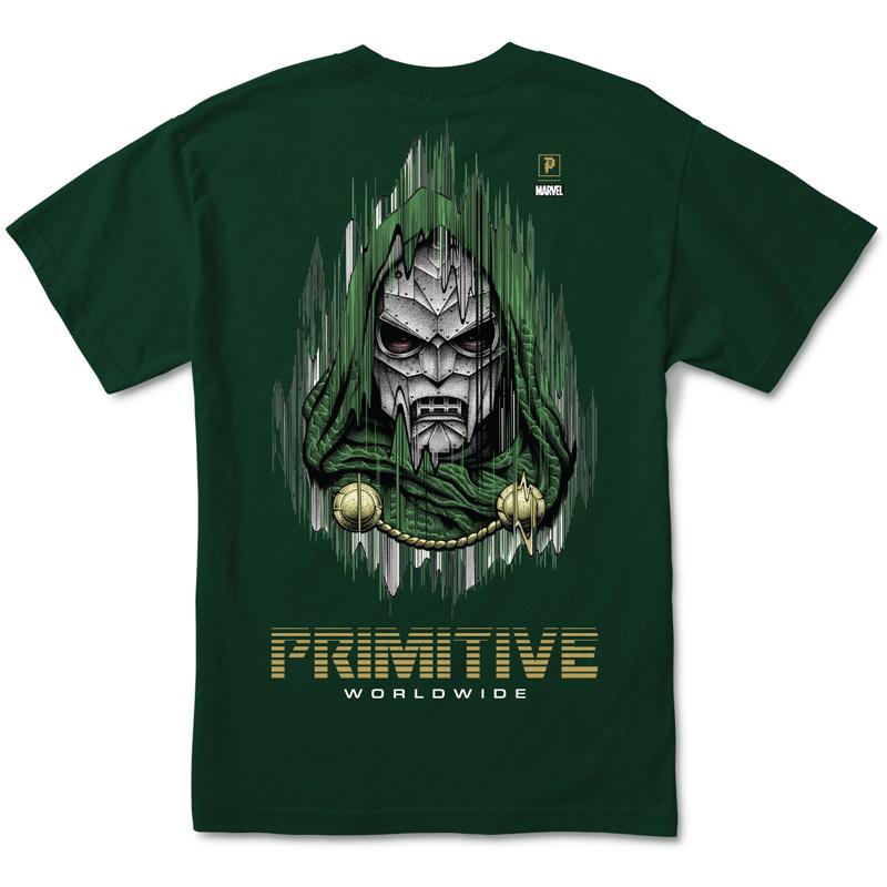 Primitive x Marvel x Paul Jackson Doom T-Shirt Forest Green
