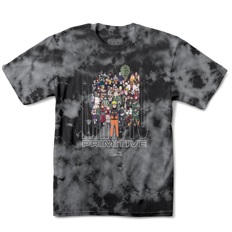 Primitive x Naruto Shippuden Washed T-Shirt Black