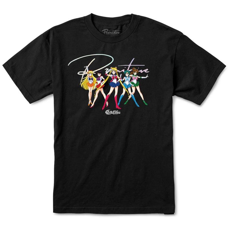 Primitive x Sailor Moon Ginza Scouts T-Shirt Black