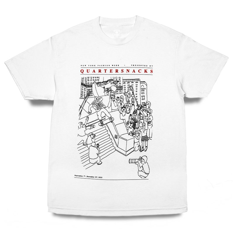 Quartersnacks Presented By T-Shirt White
