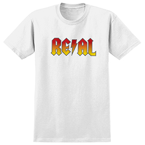 Real Deeds T-Shirt White/Red Yellow Fade