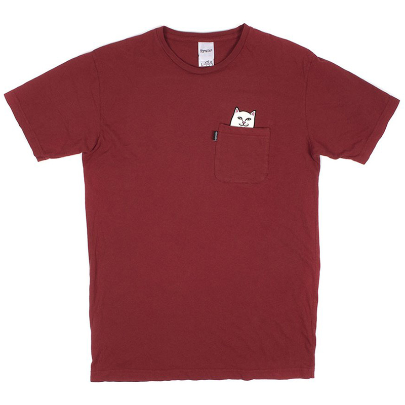 RIPNDIP Lord Nermal Pocket T-Shirt Maroon