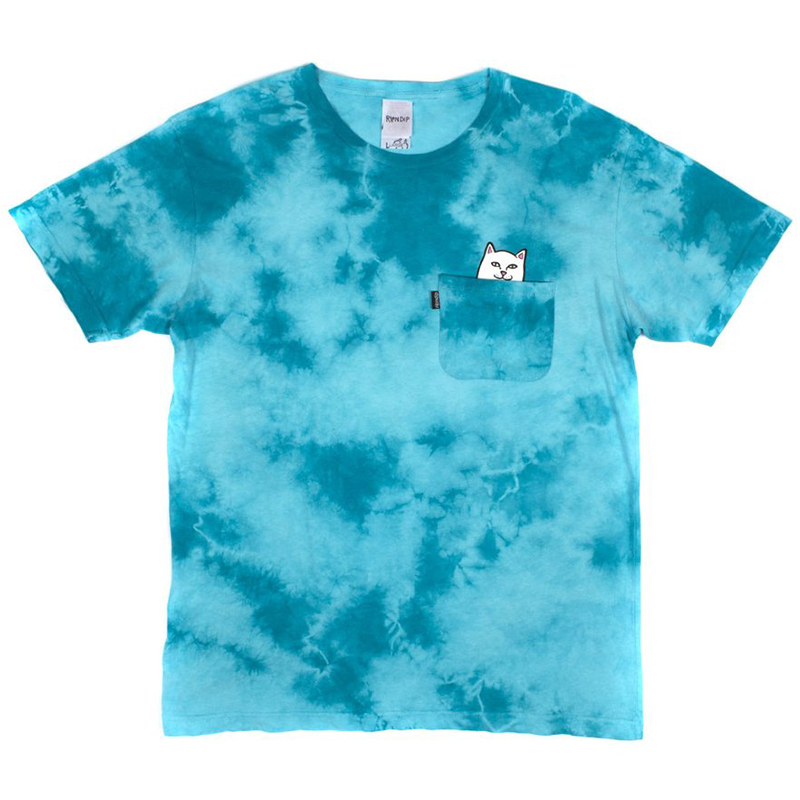 RIPNDIP Lord Nermal Pocket T-Shirt Turquoise Lightning Wash