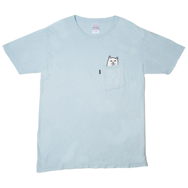 RIPNDIP Lord Nermal Pocket T-Shirt Baby Blue
