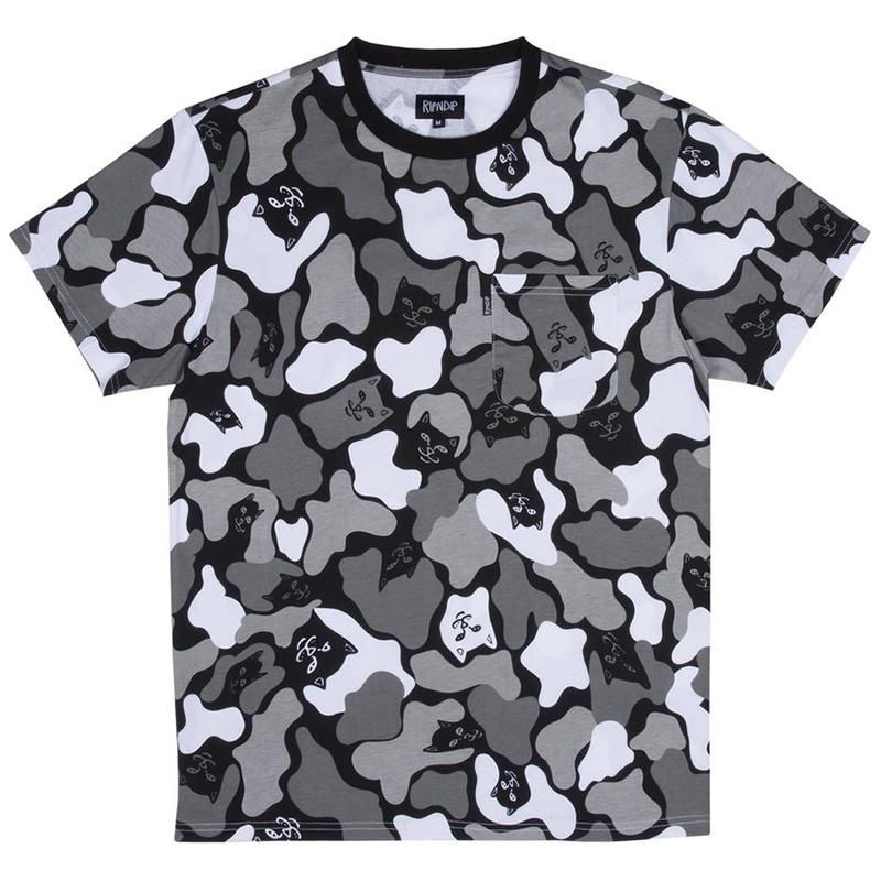 RIPNDIP Blizzard Camo T-Shirt Black