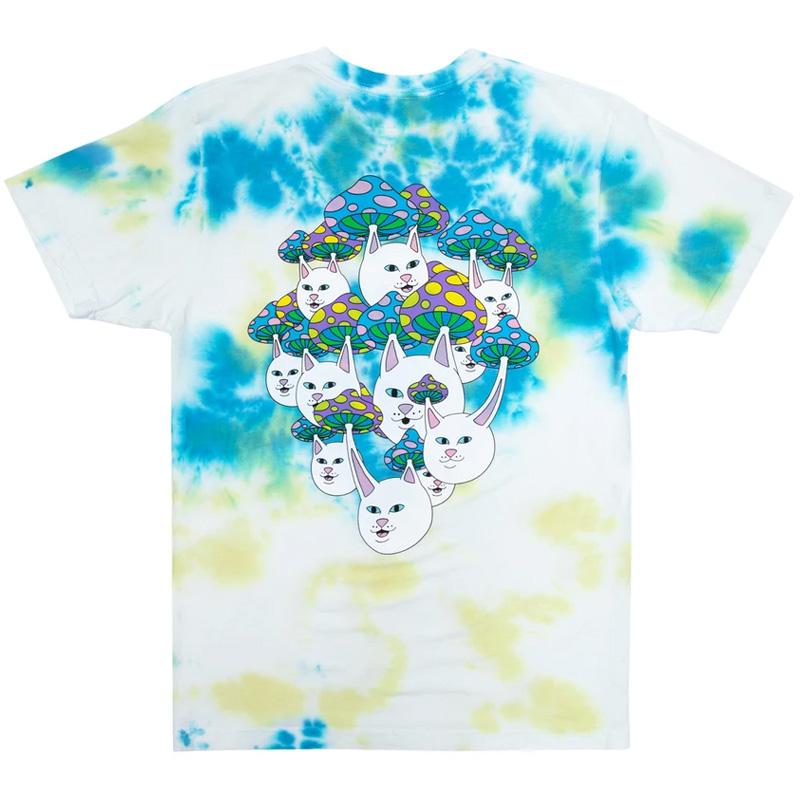 RIPNDIP Boomer Gang T-Shirt Yellow & Blue Acid Wash