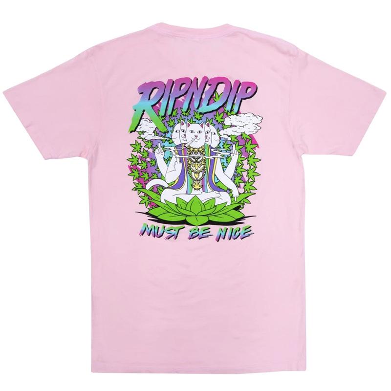RIPNDIP Chaka Bar T-Shirt Light Pink