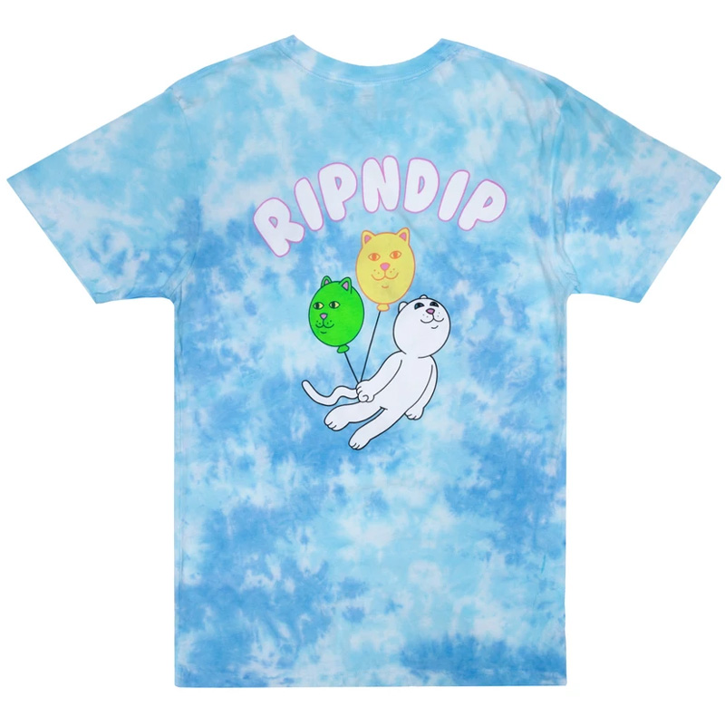 RIPNDIP Drifting Away T-Shirt Blue Tie Dye