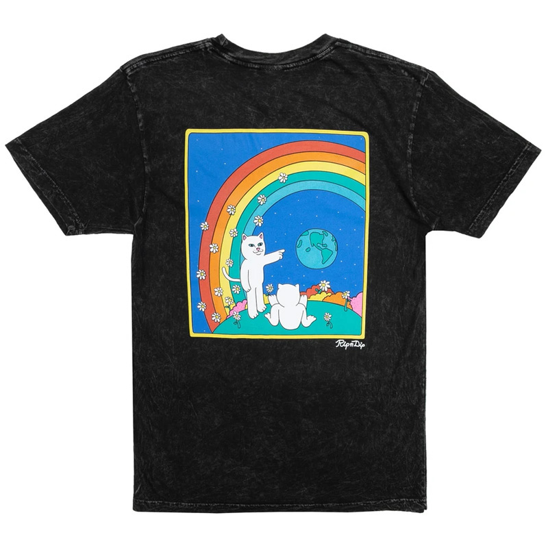 RIPNDIP Earthgazing T-Shirt Black Mineral Wash