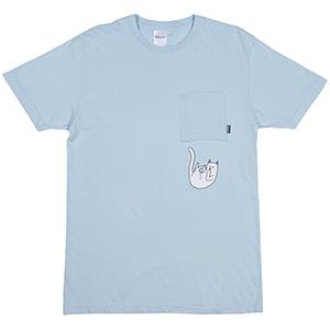 RIPNDIP Falling For Nermal Pocket T-Shirt Baby Blue
