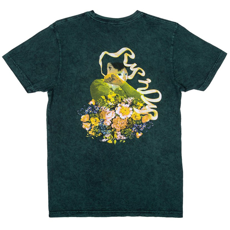 RIPNDIP Flower Burst T-Shirt Aqua Mineral Wash