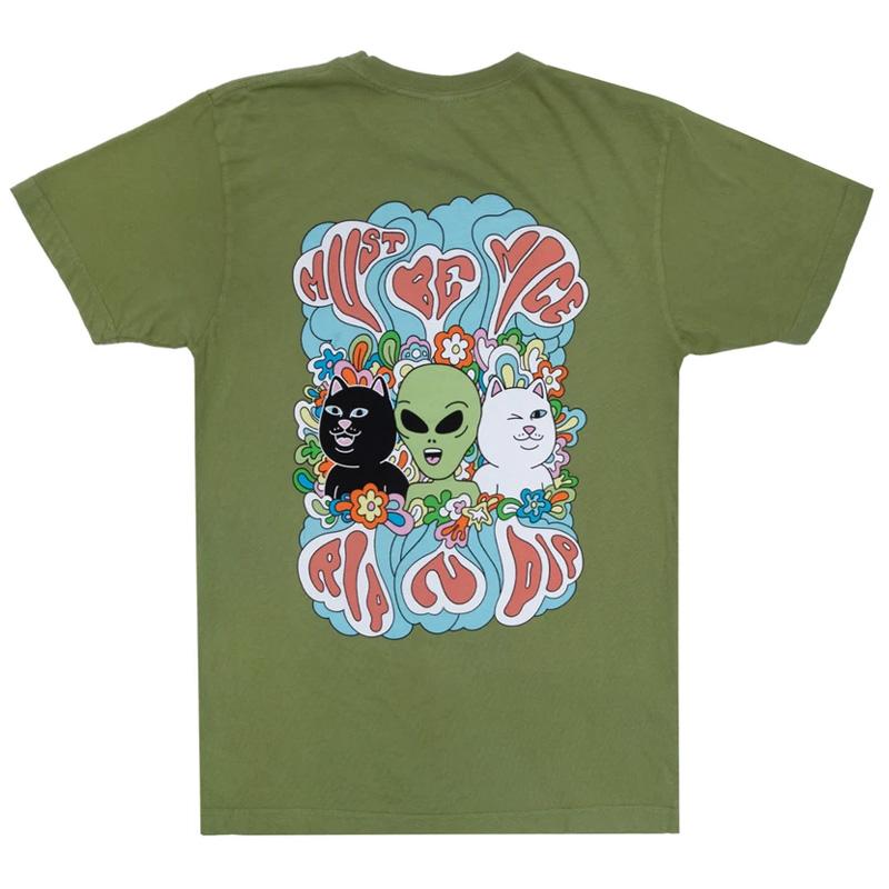 RIPNDIP Flower Child T-Shirt Dirty Olive