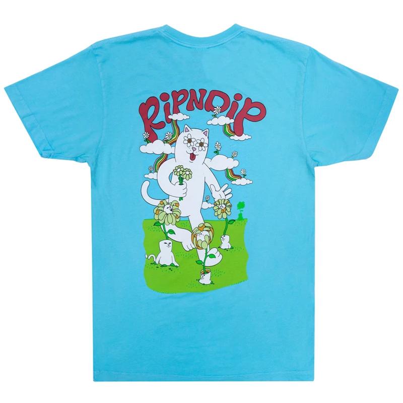 RIPNDIP Flower Power T-Shirt Baby Blue