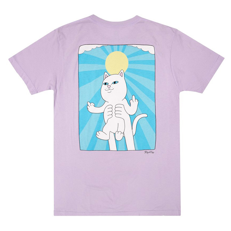 RIPNDIP Halo T-Shirt Purple Mineral Wash