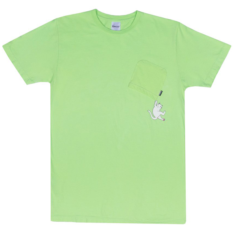 RIPNDIP Hang In There T-Shirt Lime
