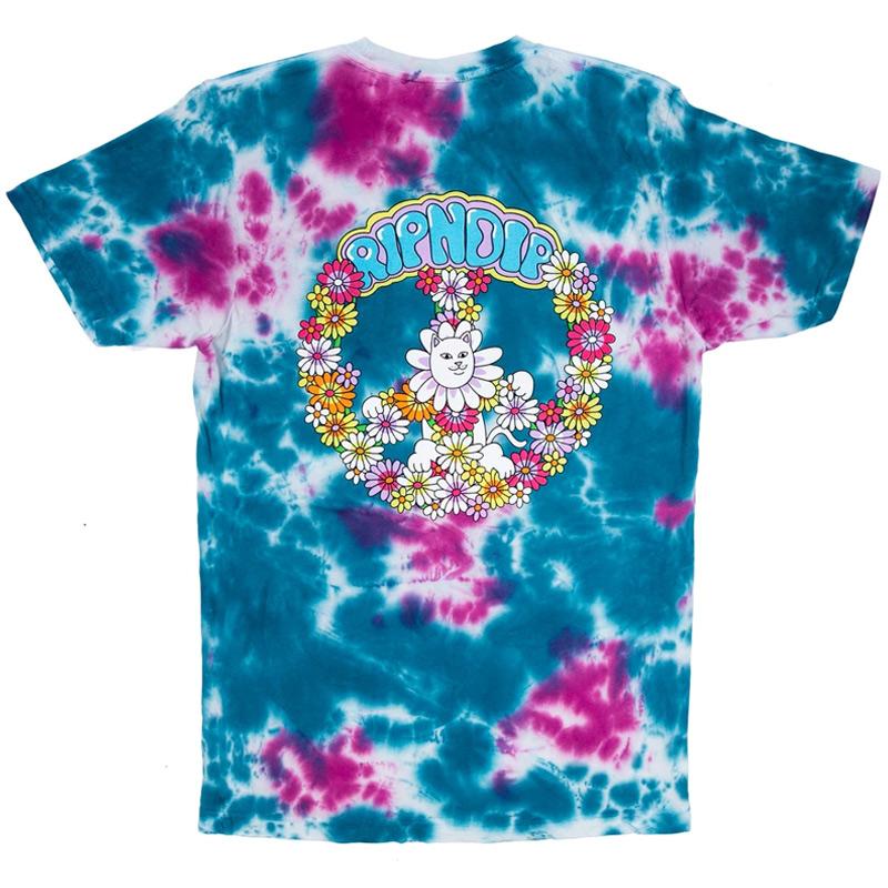 RIPNDIP Hippe Dippie T-Shirt Pink/Blue Dye