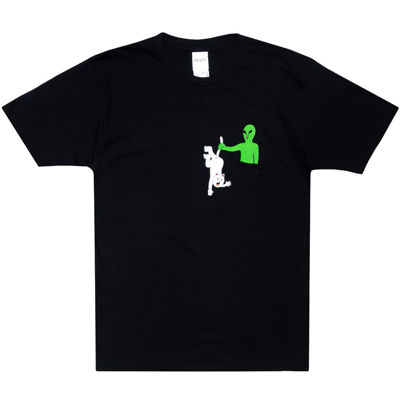 RIPNDIP Hung Up Pocket T-Shirt Black