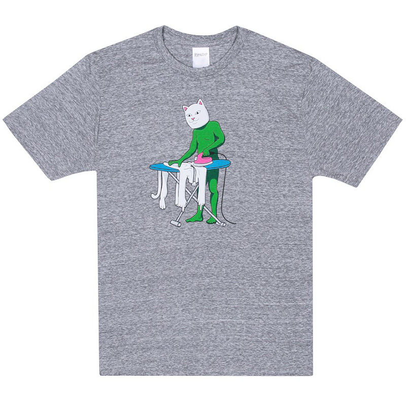 RIPNDIP Laundry Day T-Shirt Ash Heather
