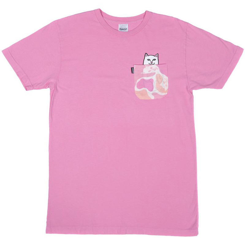 RIPNDIP Lord Nermal Camo Pocket T-Shirt Pink Camo