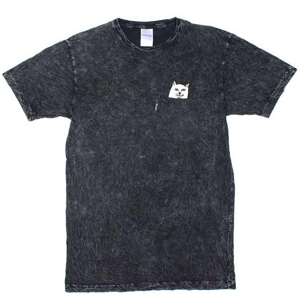RIPNDIP Lord Nermal Pocket T-Shirt Black Mineral Wash
