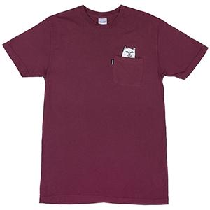 RIPNDIP Lord Nermal Pocket T-Shirt Burgundy