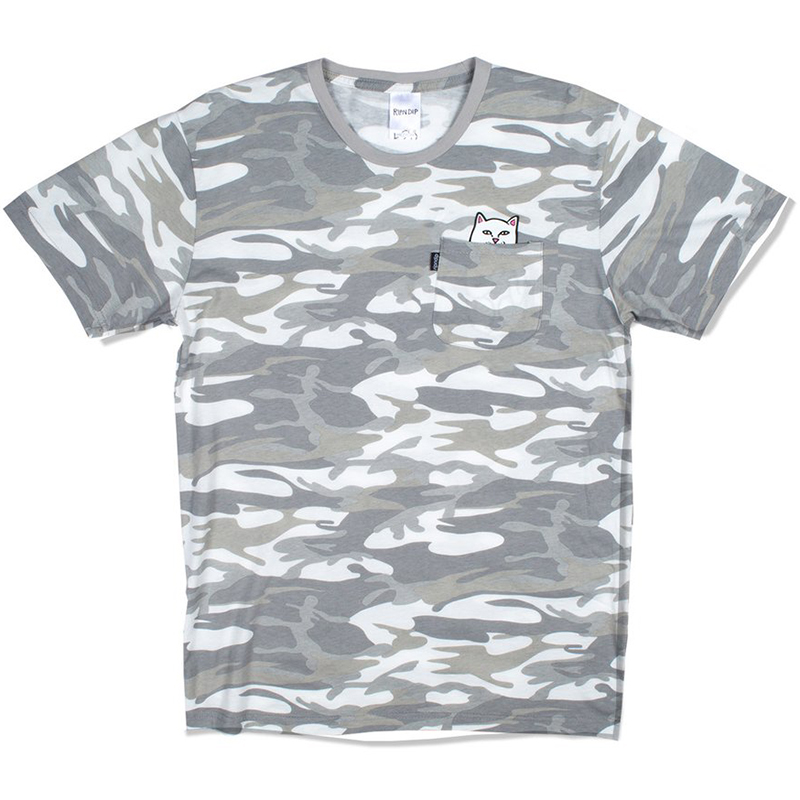 RIPNDIP Lord Nermal Pocket T-Shirt Grey Camo