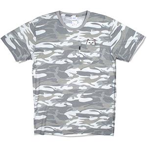RIPNDIP Lord Nermal Pocket T-Shirt Grey Camo