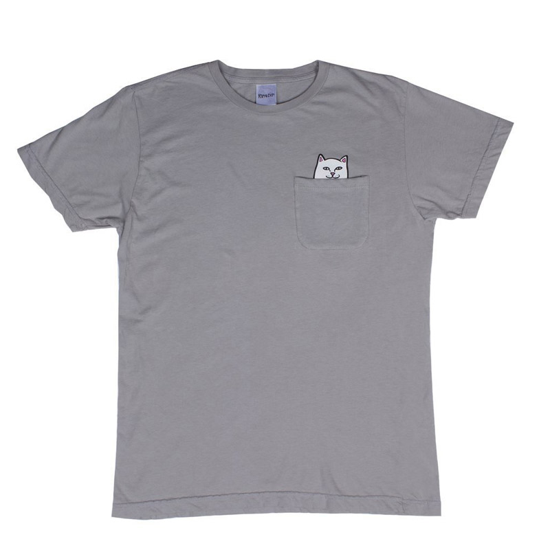 RIPNDIP Lord Nermal Pocket T-Shirt Heather Grey