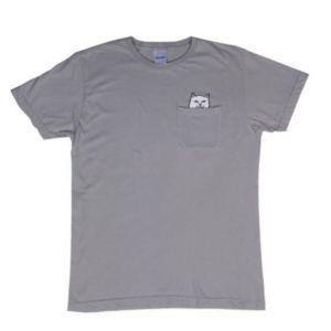 RIPNDIP Lord Nermal Pocket T-Shirt Heather Grey
