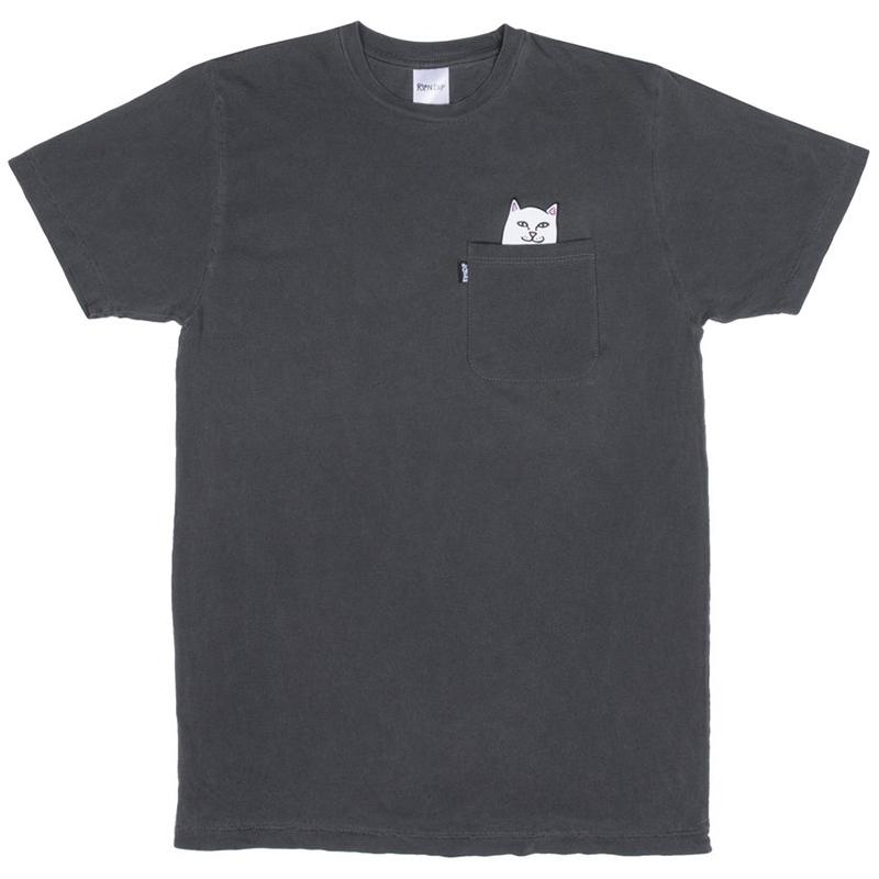 RIPNDIP Lord Nermal Pocket T-Shirt Over Dyed Black
