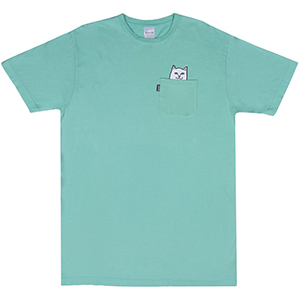 RIPNDIP Lord Nermal Pocket T-Shirt Over Dyed Mint