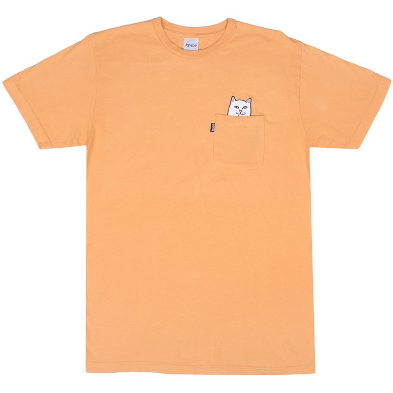RIPNDIP Lord Nermal Pocket T-Shirt Over Dyed Orange