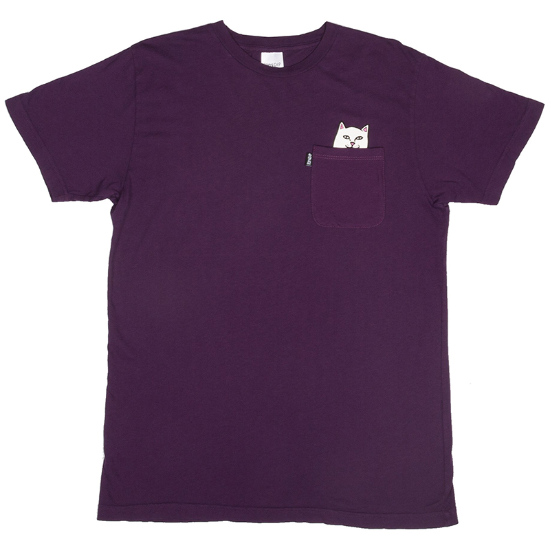 RIPNDIP Lord Nermal Pocket T-Shirt Plum
