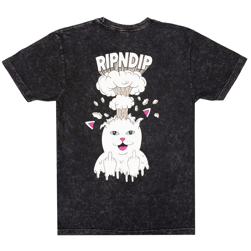 RIPNDIP Mind Blown T-Shirt Black Mineral Wash