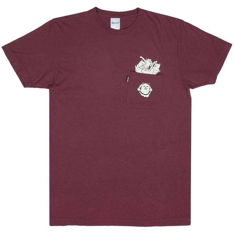 RIPNDIP Nermamaniac T-Shirt Burgundy