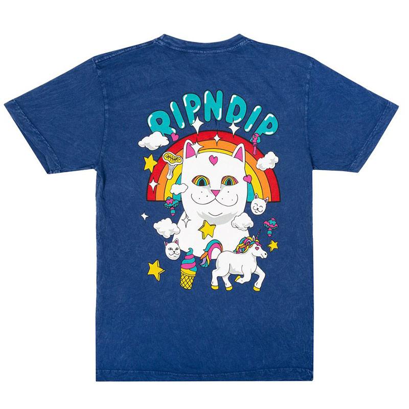 RIPNDIP Nermland T-Shirt Blue Mineral Wash