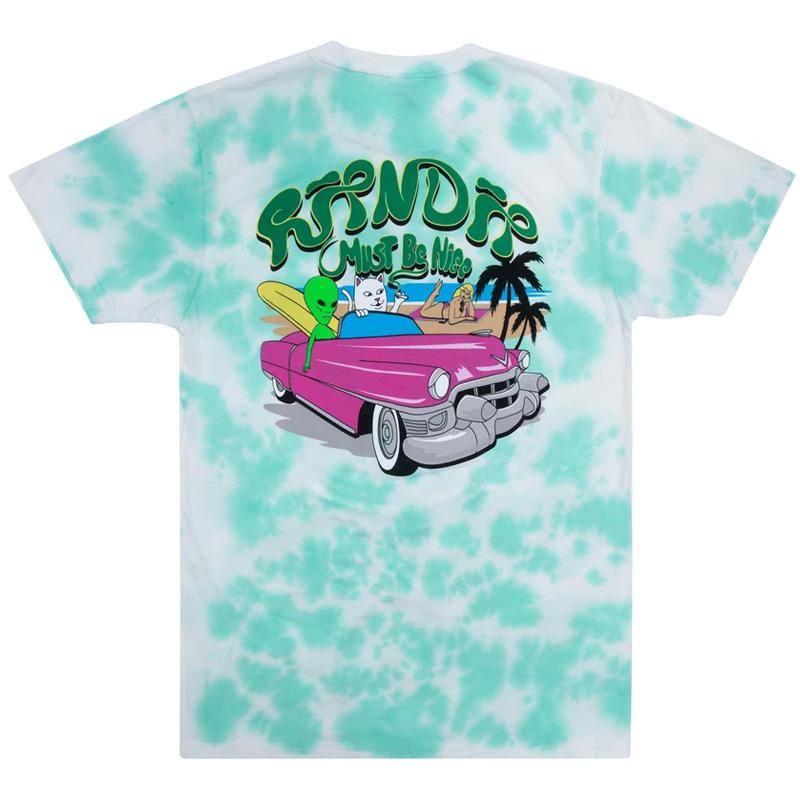 RIPNDIP Nermrider Beach T-Shirt Mint Cloud Wash