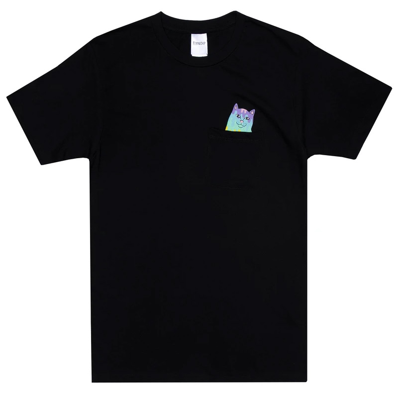 RIPNDIP Rainbow Nerm Pocket T-Shirt Black