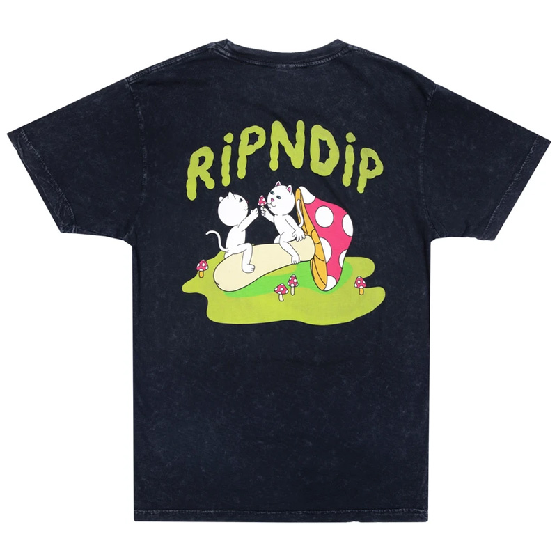 RIPNDIP Sharing Is Caring T-Shirt Black Mineral Wash